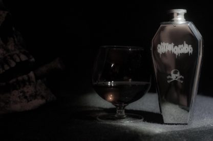 Coffin whisky flask